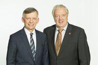 von links: Johannes Heß (Arbeitgebervertreter) und Georg Keppeler (Versichertenvertreter).