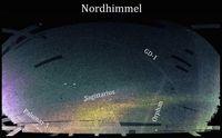 Karte des nördlichen Sternenhimmels angefertigt mit Daten des Sloan Digital Sky Surveys: Palomar 5 ist der hellste der bisher entdeckten Ströme und diente nun als Waage für die Milchstraße. Quelle: Grafik: Ana Bonaca/Yale University mit Daten des Sloan Digital Sky Survey (idw)