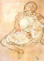 Masturbation (Zeichnung von Gustav Klimt, 1913). Bild: wikipedia.org