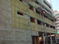 Wärmedämmung bei einer Gebäudefassade