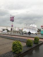 Die Zelte des Corona Drive-Inn Testzentrum in Bad Oeynhausen wurden vom Sturm umgeweht. Bild: Polizei Minden-Lübbecke