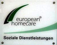 European Homecare Eingangsschild