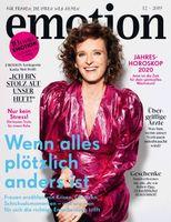 """EMOTION Verlag GmbH, Titelbild zu Ausgabe 12/2019, Bild: """"obs/EMOTION Verlag GmbH"""""""
