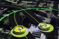 Roboter: Geplante Wege werden visualisiert (Foto: Melanie Gonick/MIT)