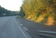 Nothaltebucht auf einer deutschen Autobahn