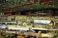 Boeing 747: Bau des Mittelrumpfes um den Flügelmittelkasten (center wing box)