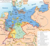 Karte der Weimarer Republik (Deutsches Reich)