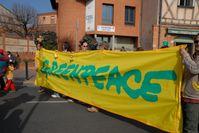 Greenpeace-Demonstration in Toulouse gegen den Bau eines EPR (2007)