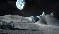 Bergbau auf dem Mond (Symbolbild)