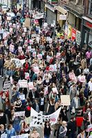 Slutwalk (engl. für Schlampenmarsch) in Manchester. Bild: Man Alive / flickr.com