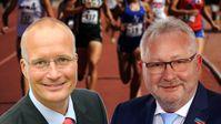 Jörn König und Andreas Mrosek, MdB, Abgeordnete der AfD-Bundestagsfraktion