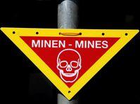 Landminen: Warnzeichen Minen