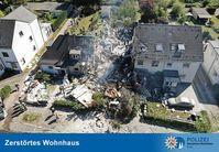 Zerstörtes Wohnhaus Bild: Polizei