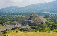 Looking at Pirámide de la Luna from Pirámide del Sol, Teotihuacan