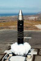Kaltstart einer US-amerikanischen Peacekeeper aus einem Raketensilo.
