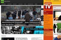 Collage der Webseiten von RT Deutsch und Salve.TV