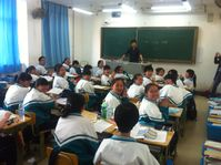 Klasse in einer Pekinger Mittelschule; 2014 (Symbolbild)