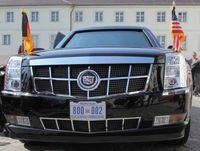 Ein Diplomatenfahrzeug mit Diplomatenkennzeichen (Symbolbild)