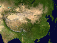 Satellitenaufnahme von China