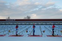 Biathlon Schießstand in Östersund