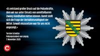 Die Polizei in Leipzig hatte kein Interesse daran, friedliche Bürger zu verprügeln auf der Leipziger Demonstration für Friede, Freiheit und gegen Diktatur am 07.11.2020..