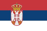 Flagge der Republik Serbien