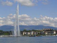 Genf: Der Jet d'Eau