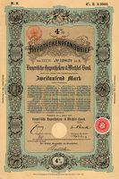 Pfandbrief über 2000 Mark der Bayerischen Hypotheken- und Wechsel-Bank vom 1. Januar 1901 (Symbolbild)
