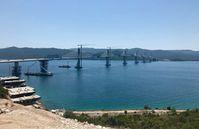 Pelješac Brücke in Kroatien, Juni 2021