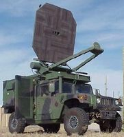 Humvee with Active Denial System mounted