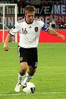 Lahm bei der Nationalmannschaft Bild: Steindy  / de.wikipedia.org