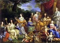 Mythologisches Porträt der königlichen Familie von Ludwig XIV, Gemälde von Jean Nocret (1670; Schloss Versailles)