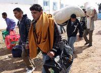 Flüchtlinge an der libysch-tunesischen Grenze (7. März 2011)