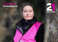 Vorsitzende von BÜNDNIS21: Stephanie Tsomakaeva.Bild: BÜNDNIS21 Fotograf: BÜNDNIS21