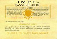 Impfzertifikat / Impfbescheinigung (Symbolbild)