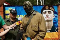 Leader of the pro-Ukrainian Donbass Battalion Semen Semenchenko (2 June 2014)