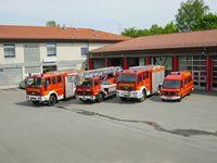 Deutsche Feuerwehrfahrzeuge (hier Löschzug)