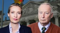 Dr. Alice Weidel und Dr. Alexander Gauland, Vorsitzende der AfD-Bundestagsfraktion (2021)