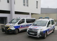 Auto der Police nationale