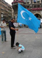 Uigurischer Protest in München 2008