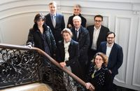 "EDNH-Kick-off-Meeting in Hamburg (v. li.): Christine Buhagiar (AFP), Rainer Finke (dpa Vertrieb Ausland), Catherine Lehmann (AFP), Enrico Tibuzzi (ANSA), Maurizio Lunetta (ANSA), Yacine Le Forestier (AFP), Sophie Huet-Trupheme (AFP) und Christoph Walter (dpa- Custom Content). Bild: ""obs/dpa Deutsche Presse-Agentur GmbH/Marcus Brandt"""