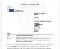 Screenshot der EU-Dokumente bei WikiLeaks