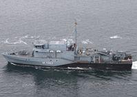 Minenjagdboot BAD BEVENSEN in Fahrt