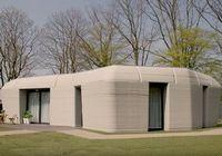 So sieht am Ende das fertige vollständig 3D-gedruckte Haus aus.
