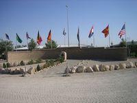 Ehrenhain im deutschen Feldlager Kunduz Afghanistan 2009