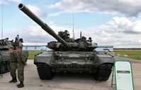 A T-90A tank of the Russian Ground Forces