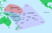 Gliederung der pazifischen Inselwelt in Kulturräume