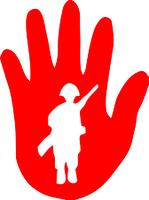 """""""Red Hand"""": Logo Deutsches Bündnis Kindersoldaten"""