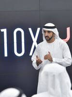 Seine Hoheit Scheich Hamdan bin Mohammed bin Rashid Al Maktoum, Kronprinz von Dubai und Chairman of the Board of Trustees der Dubai Future Foundation (2017)