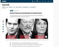 """Bild: Screenshot aus dem Artikel """"Rechts? Deutsche Schriftsteller im Schnell-Check"""""""
